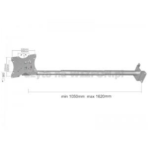 "UCHWYT LCD 15-37""(30kg) VESA,czarny,sufitowy"