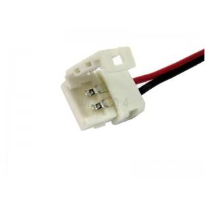 ŁĄCZNIK do taśm LED   8mm   click,z przewodem do zasilacza
