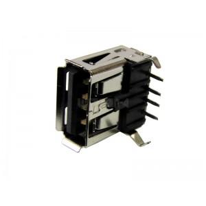 GNIAZDO USB A do druku,kątowe, czarne