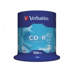 CD-R 700 MB VERBATIM CAKE '100