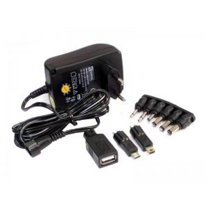 ZASILACZ  3-12V/ 1500mA  uniwersalny,USB, impulsowy