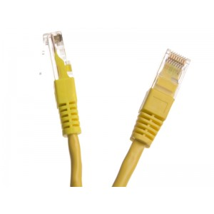 KABEL PATCH, UTP-5e  1m Yellow/żółty