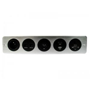 LISTWA MULTIMEDIALNA 1x230V, HDMI, VGA, USB, 3xRJ45