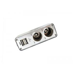ROZGAŁĘŹNIK ZAPALNICZKI 1/2 + 2x USB