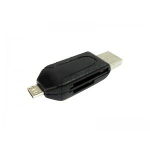 CZYTNIK KART PAMIECI USB 2.0/ MicroUSB OTG