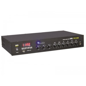 WZMACNIACZ PA 100V AML120  USB  (3-strefowy)