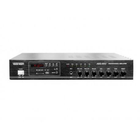 WZMACNIACZ PA-80 80W  USB,SD,FM  ABS-80U (czarny)