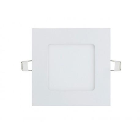 PANEL LED 6W, kwadrat, podtynkowy, slim, 3000K, 12 cm