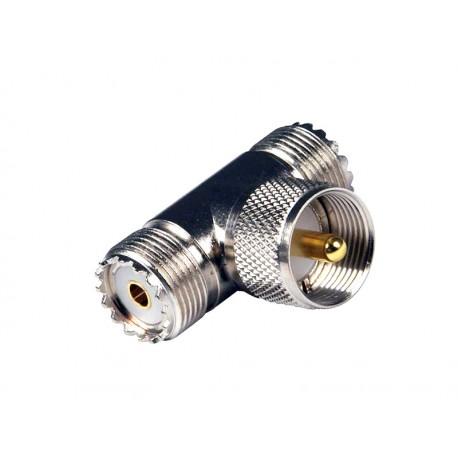 TRÓJNIK wtyk UHF(UC1) / 2x gniazda UHF(UC1)