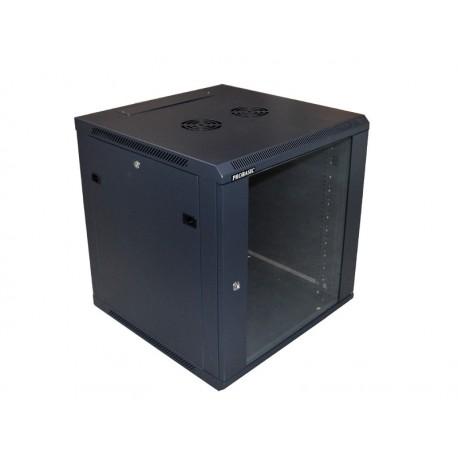 """SZAFA 19"""" 12U wisząca, 600x600  czarna, drzwi szklane"""
