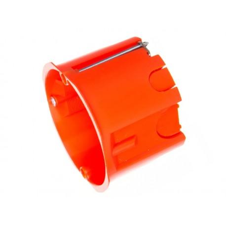 PUSZKA podtynkowa 60mm, do regipsu, pomarańczowa, głęboka