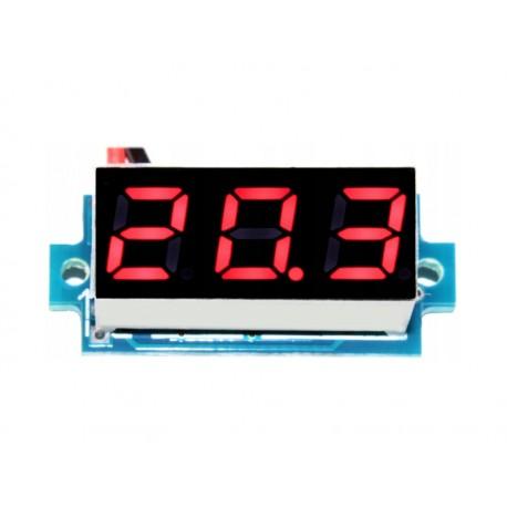WOLTOMIERZ  3-30V, RED moduł pomiarowy 0,28''