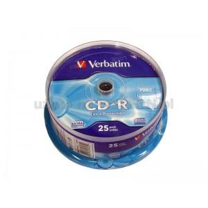 CD-R 700 MB VERBATIM CAKE 25'
