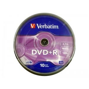 DVD+R 4,7 GB VERBATIM CAKE 10
